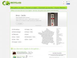 Co recyclage vous permet de donner ou récupérer des objets.