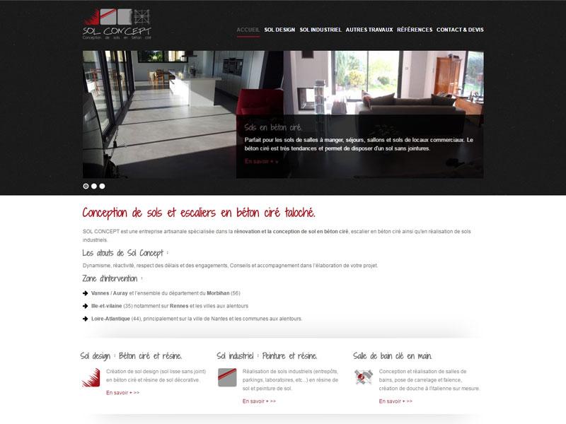 Sol Concept, artisan spécialiste de construction et rénovation de sols en béton ciré