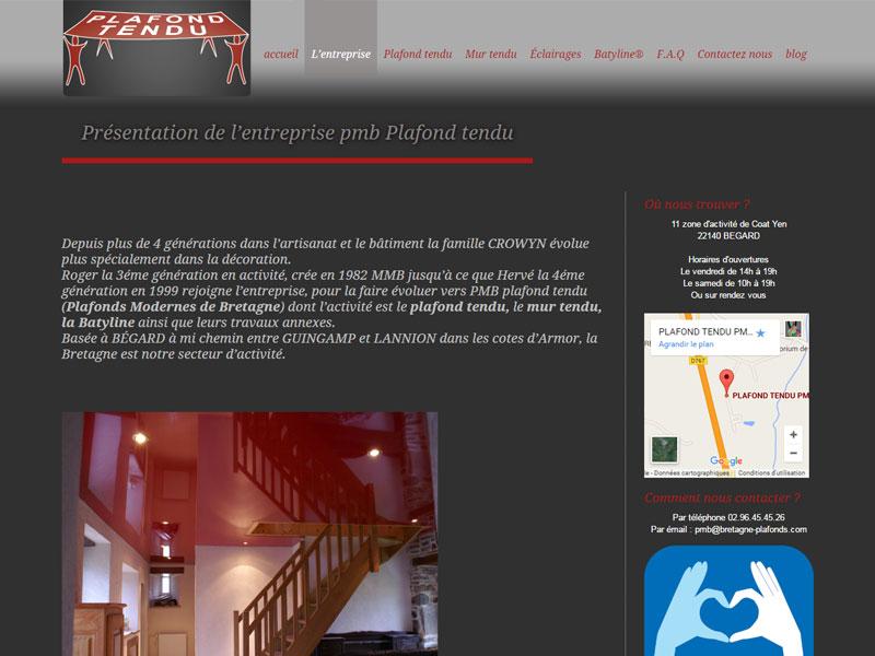 Plafonds modernes et tendus en Bretagne