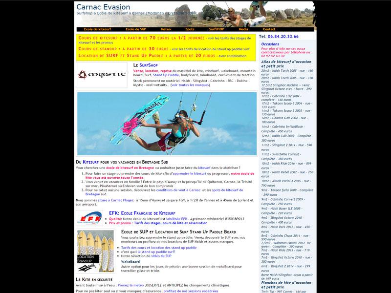 surfshop et école de kitesurf à Carnac