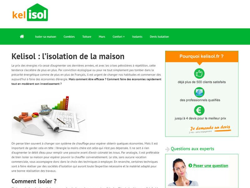 Devis isolation logement - Kelisol
