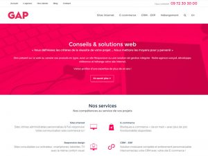 gap, création de sites internet professionnels