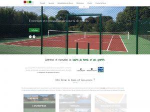 entretien et rénovation de cours de tennis